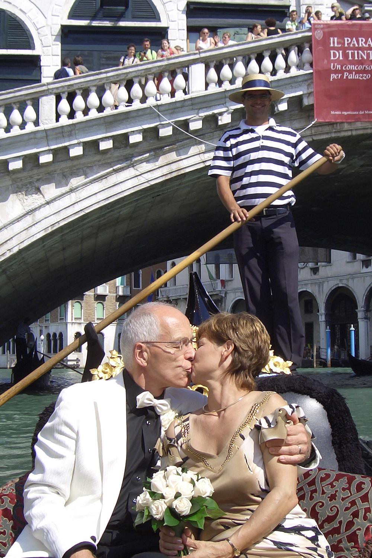 Christine Errath Hochzeit mit Paul in Venedig 2006